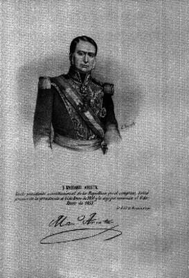 Mariano Arista, litografía