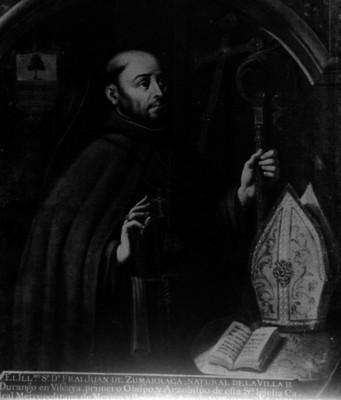 Juan de Zumarraga, fraile, pintura