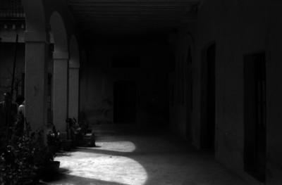 Pasillo de la casa donde estuvó el cuartel del ejército de Oriente al mando del general Porfirio Díaz
