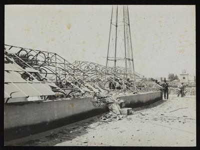 Destrucción en fortificación felicista dentro de la Ciudadela