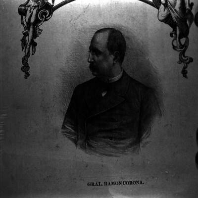 Ramón Corona, Gral, grabado