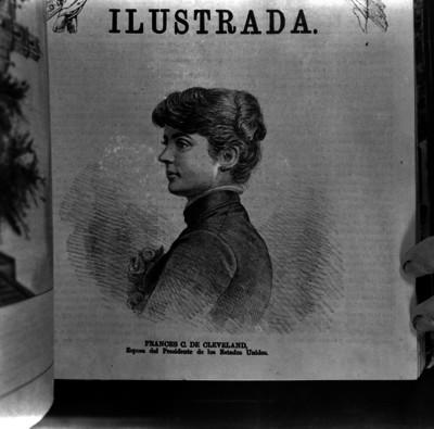 Frances C. de Cleveland, grabado