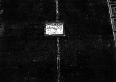 Placa de la casa de la conde de San Mateo Valparaiso