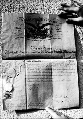 Documento de Benito Juárez, dirigido a Alfredo Chavero