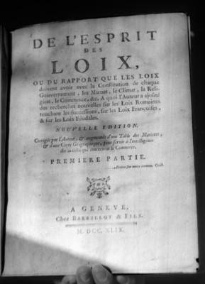Portada de libro De Lesprit de Loix