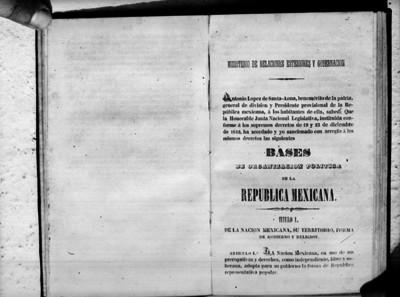 Bases de la Organización Pólítica de la República Mexicana