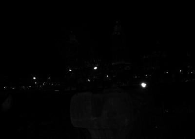 Multitud en el zócalo, observa la llegada del Tláloc de Coatlinchan