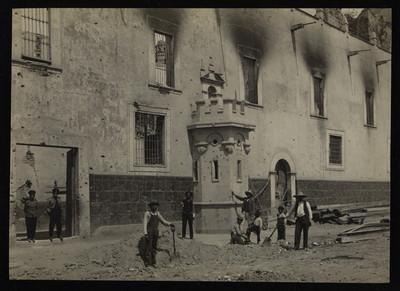Prisión militar de Santiago Tlatelolco después del asalto