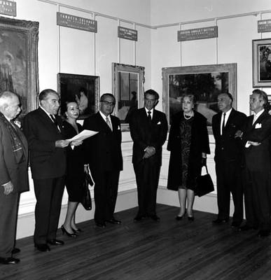 Exposición de pintura en la Academia de San Carlos