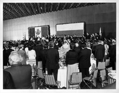 Ceremonia de bienvenida al presidente de Colombia Julio César Turbay Ayala