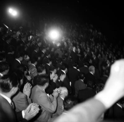 Adolfo López Mateos y otros funcionarios, durante la inauguración de cursos en el IPN