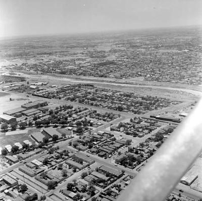 El Paso Texas y Ciudad Juárez, vista aérea