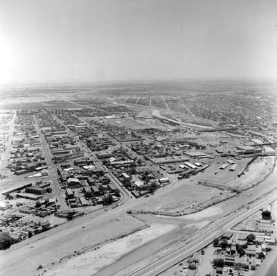 El Paso Rexas y Ciudad Júarez, vista aérea