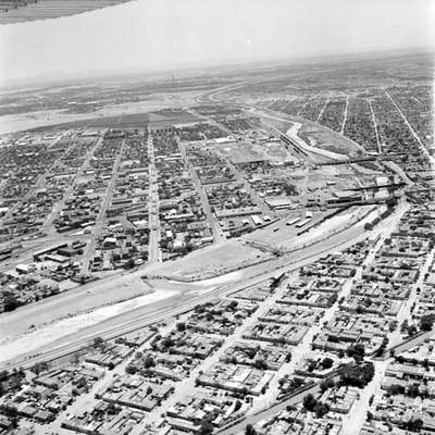 Ciudad Juárez y El Paso Texas, vista aérea