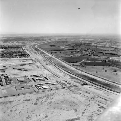 Campos de cultivo americanos. vista aérea