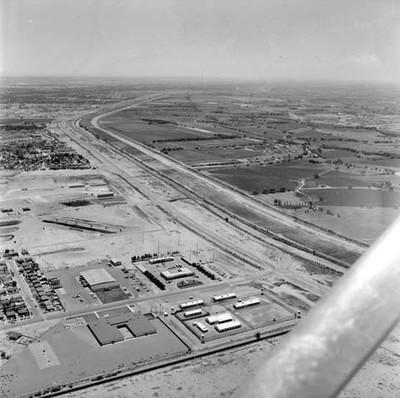 Campos de cultivo americanos, vista aérea