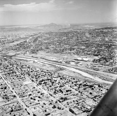 Cuiudad Juárez y El Paso Texas, vista aérea