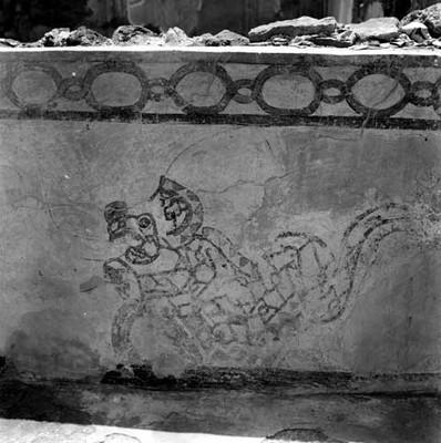 Detalle de las ruinas de Tepatitla en Teotihuacán