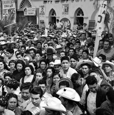 Mitin de apoyo a la candidatura de López Mateos en Tula