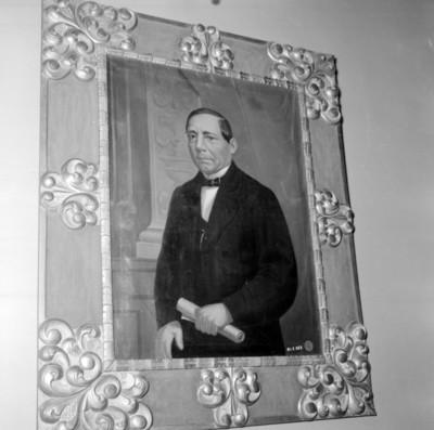 Benito Juárez, retrato al oleo