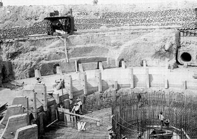 Construcción de un almacén de agua en el D.F.