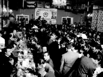 Banquete de actores y empresarios en la inauguración del Variety Club