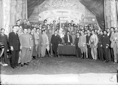 Delegados a la convención de Aguascalientes después de haber protestado