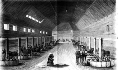 Litografía de una hacienda minera