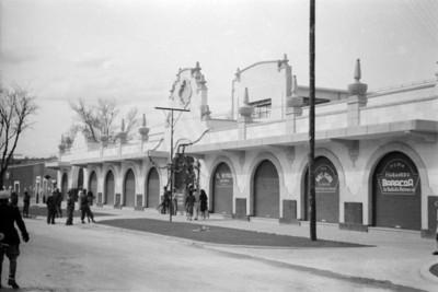 Mercado en Chilcuautla, exterior, vista general