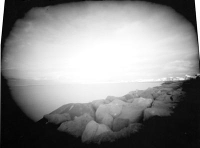 Peñascos y mar, paisaje