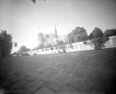 Catedral de Notre Dame y alrededores, vista parcial