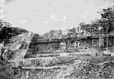 Escalinatas del Templo de las Inscripciones, vista parcial