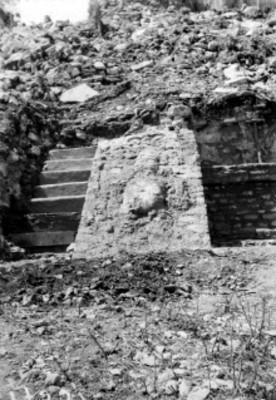 Escalinata y alfarda, vista parcial