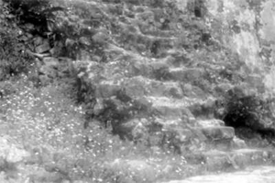Escalinata, detalle