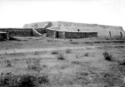 Vista de un conjunto habitacional en Calixtlahuaca