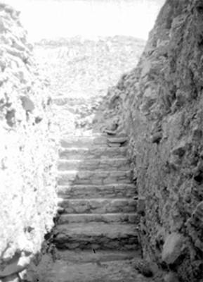 Restos de una edificación teotihuacana, escaleras