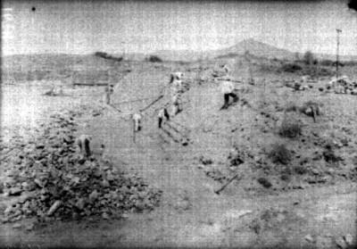 Excavación y restauración en la Calzada de los Muertos