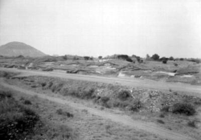 Vista de zona arqueológica de Teotihuacán durante su esploración
