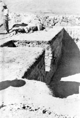 Hombres en trabajos de excavación