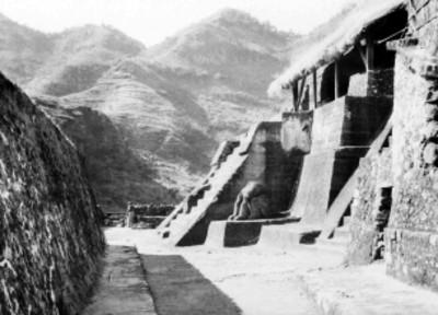 Pirámide de Malinalco, vista lateral