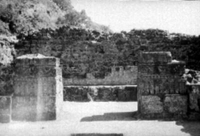 Vista oeste-este del interior del Templo