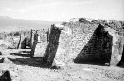 Vista de la parte superior de la pirámide de Teopanzolco