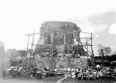 Restauración del Templo Norte en el Juego de Pelota