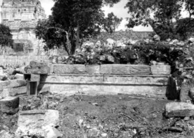 Vista parcial del Templo de los Jaguares