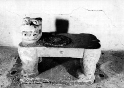Trono del Jaguar Rojo en la subestructura del Castillo