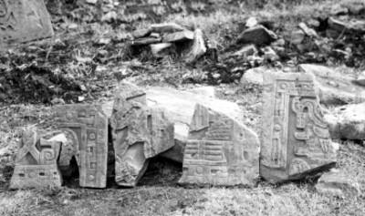 Vista de fragmentos de paneles