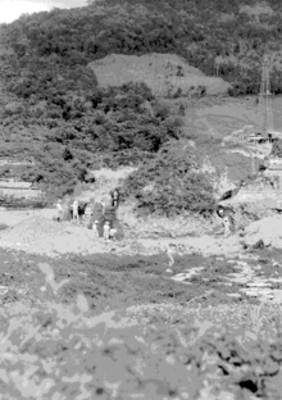 Panorámica de los trabajos de limpieza y desmonte en el Tajín