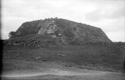 Vista noroeste del edificio de trece cuerpos, Templo Mayor de Cempoala
