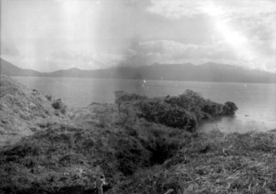 Vista parcial de la laguna de Catemaco