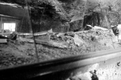 Detalle de un entierro prehispánico en exhibición